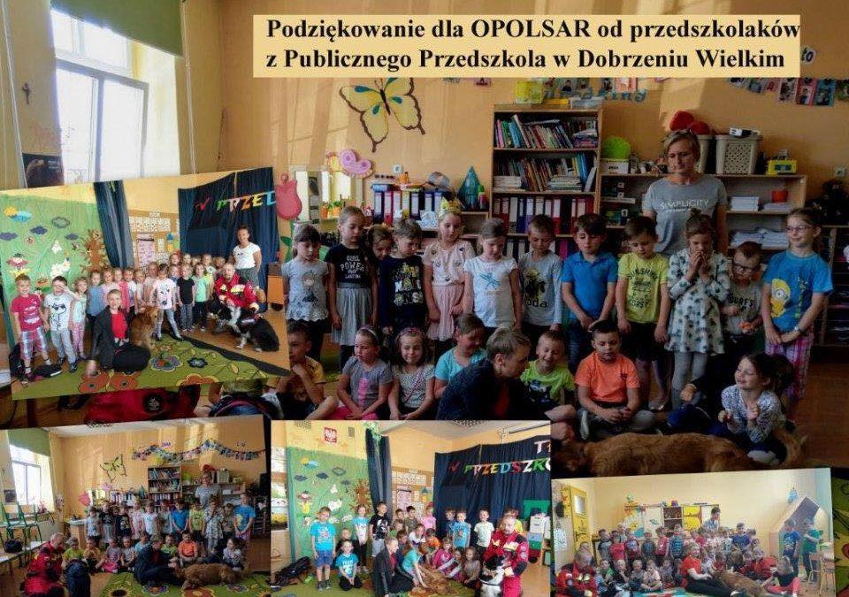 Z wizytą w Publicznym Przedszkolu w Dobrzeniu Wielkim
