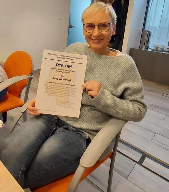 Wiceprezes OPOLSARU ukończyła Intensywny Kurs Psychologii Śledczej
