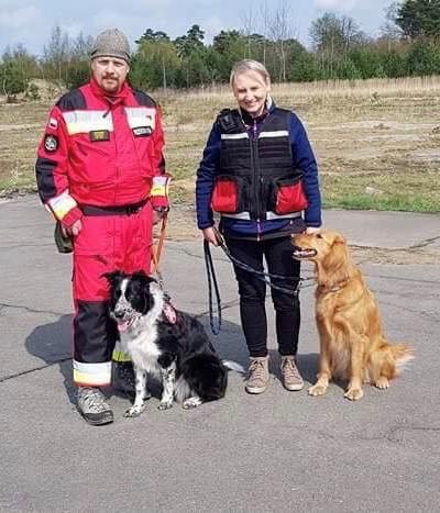 """Na pierwszych państwowych egzaminach PSP w Pstrążu, dwa nasze psy uzyskały uprawnienia terenowe klasy  """"0"""""""