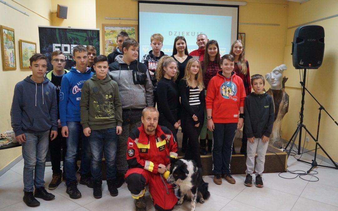Spotkanie z młodzieżą szkolną w Głuchołazach