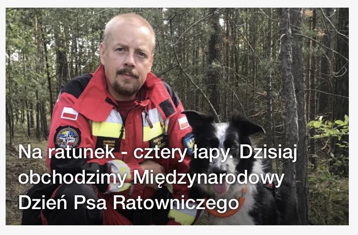 Prezes OPOLSARU rozmawiał    o psach ratowniczych z dziennikarzem Radia OPOLE.
