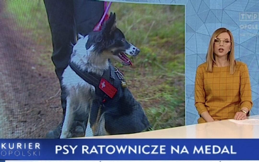 """TVP3 OPOLE – Kurier Opolski: """"Opolskie psy ratowniczo – poszukiwawcze na medal"""""""