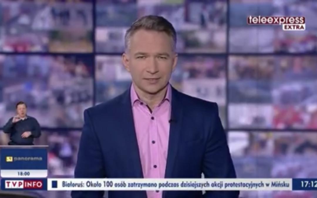 TVP1 – Fundacja OPOLSAR i jej psy w Teleexpress Extra.