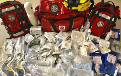 Dzięki pozyskanemu wsparciu doposażyliśmy apteczki wykorzystywane w działaniach ratowniczych.