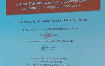 Szkolenie z systemu wspomagającego poszukiwania osób z użyciem dronów – SARUAV.